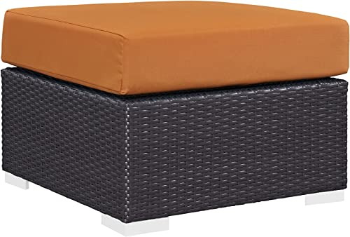 Modway EEI-1911-EXP-ORA Convene Patio Fabric Square Ottoman Outdoor Furniture