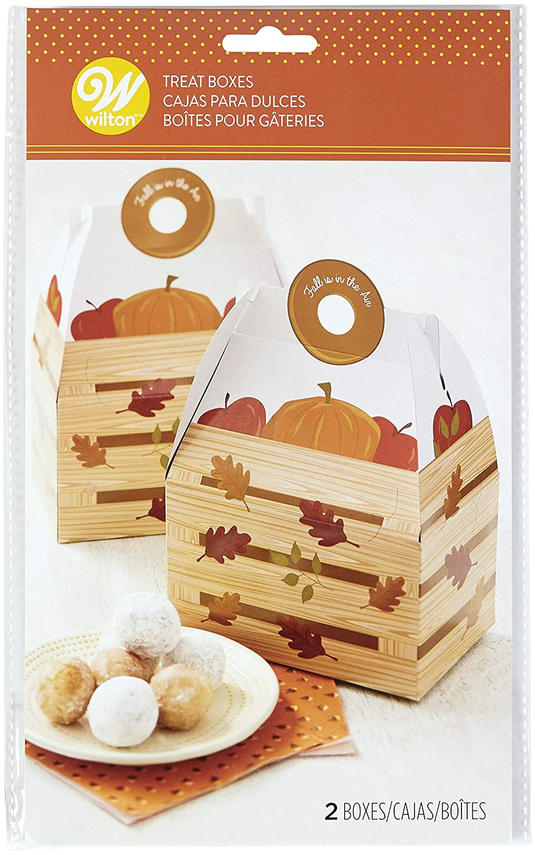 Autumn Wilton W7294 Treat Box with Handle 2//Pkg