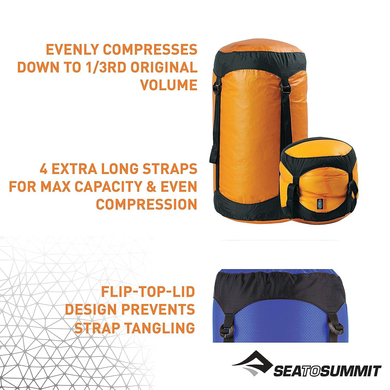 XL Alpinismo y Trekking Sea to Summit Ultra-SIL Compression Sack X-L Saco Monta/ñismo Adultos Unisex Blue Azul
