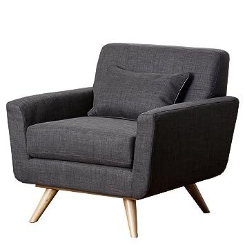 Abbyson Paisley Gray Tufted Fabric Armchair