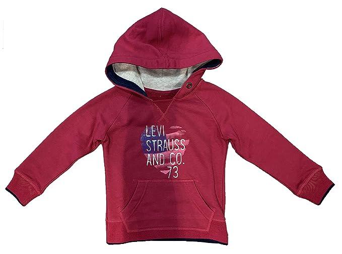 Levis Kids Sweater Ne15527 - Sudadera para niñas, Color Rosado (5 años)