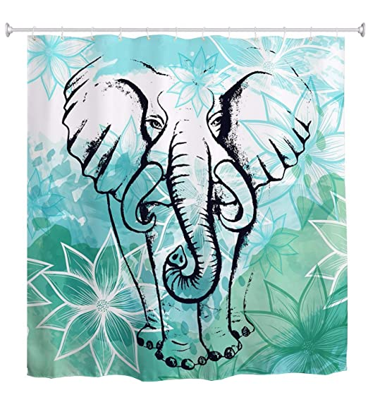A.Monamour Acuarela Elefante Mandala Boho Tatuaje Diseño Flor De ...