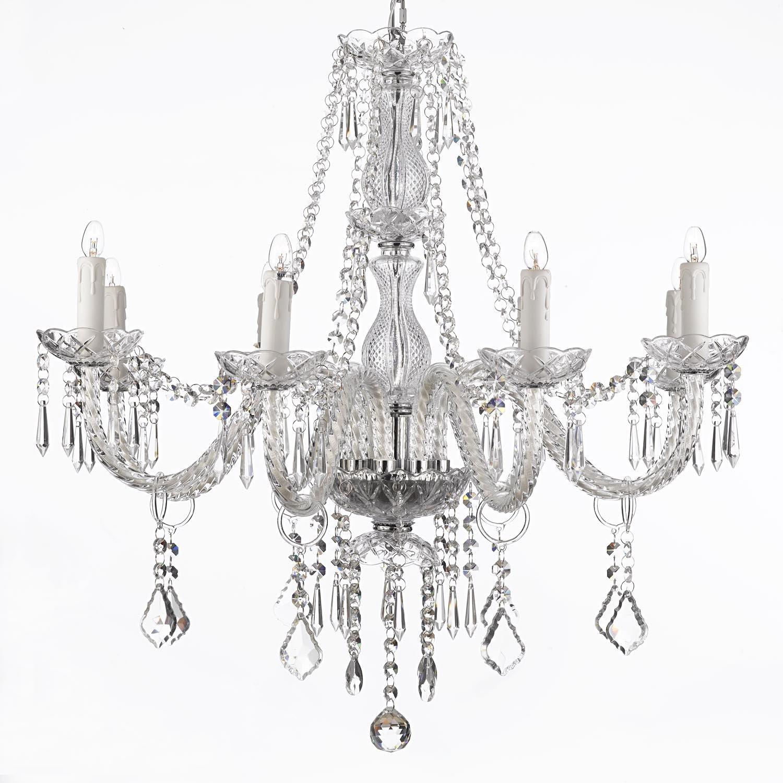 crystal chandelier lighting 28ht x 28wd 8 lights fixture pendant ceiling lamp amazoncom cheap home lighting