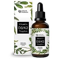 Vitamin D3 + K2 Tropfen - 50ml - Premiumqualität: 99,7+% All-Trans (K2VITAL von Kappa) + hoch bioverfügbares D3 - Laborgeprüft, hochdosiert, flüssig und hergestellt in Deutschland