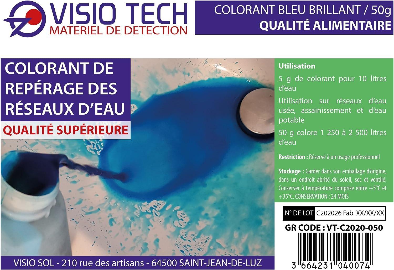 polvo soluble en el agua Visio Tech colorante de registro azul 100/G en maceta