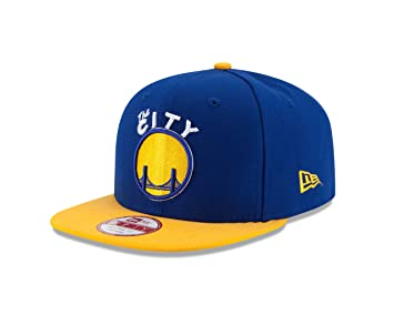 b72cff96771677 New Era 11204243 NBA Golden State Warriors Hardwood Classics 2Tone Basic  9FIFTY Snapback Cap, One Size, Royal/Yellow, Baseball Caps - Amazon Canada
