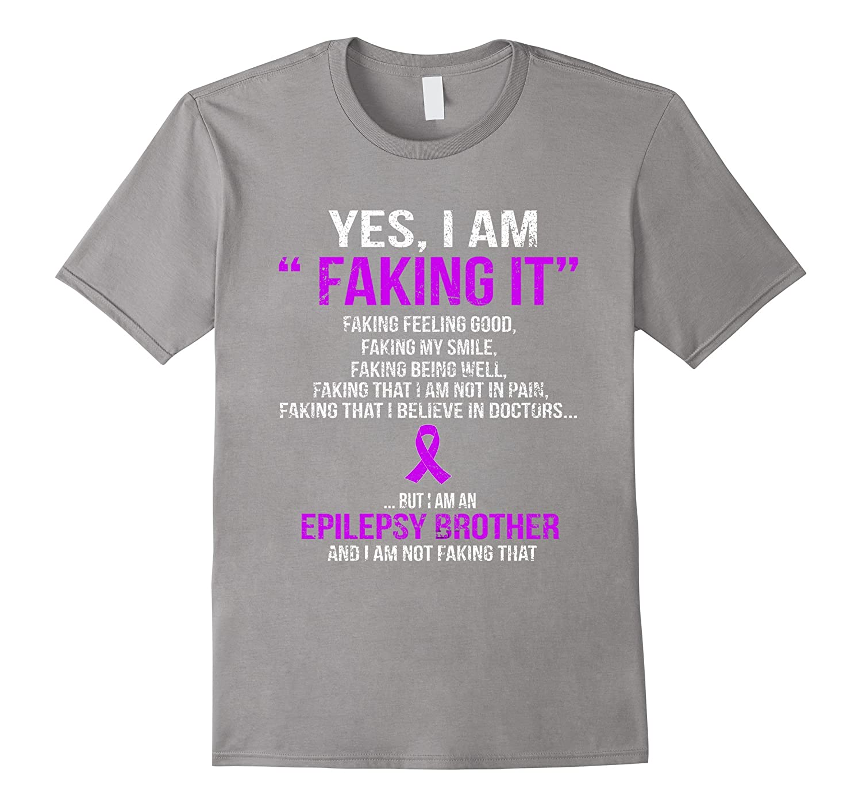 I'm an epilepsy brother support epilepsy awareness t shirt-Loveshirt
