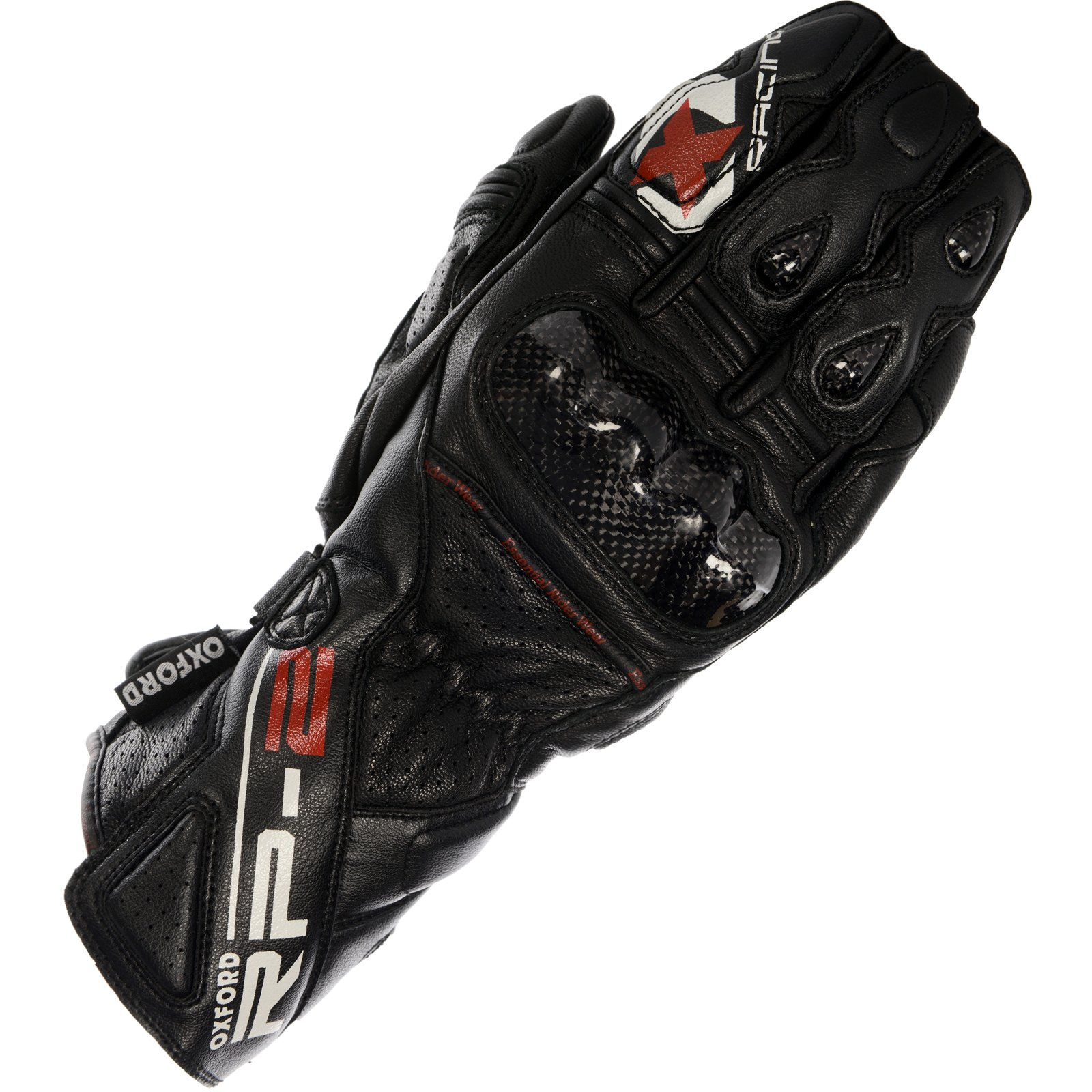 Oxford Unisex-Adult RP-2 Leather Race Gloves (Tech Black, Medium)