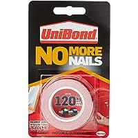 UniBond No More Nails op een rol, dubbelzijdig plakband voor betrouwbare onmiddellijke hechting, multifunctioneel…