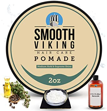 Buy Pomade For Men Best Hair Styling Formula For Medium Hold And High Shine Perfect For Straight Thick And Curly Hair 2 Oz Smooth Viking Online At Low