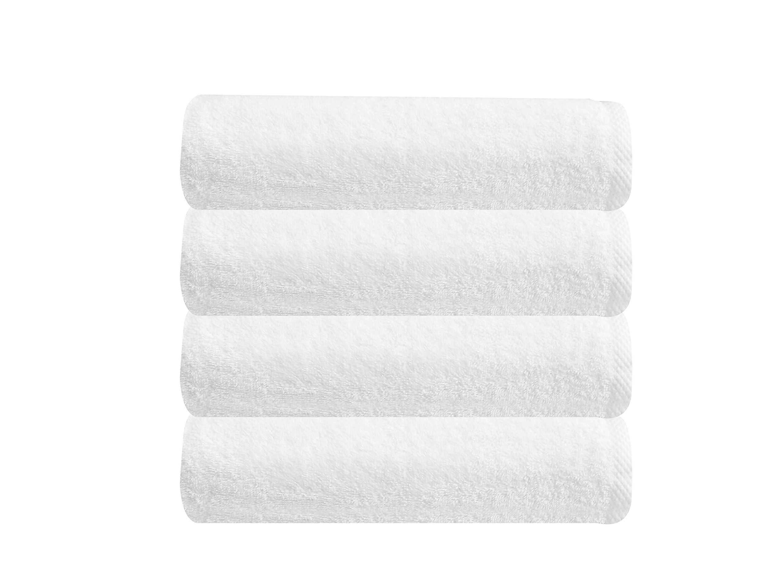 SALBAKOS Classic Turkish Cotton Towels | Ultra Soft & Absorbent Hotel & Spa Collection 550 GSM Bath Towels, White