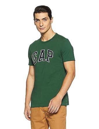 02f1ee707ae GAP Men s Printed Regular Fit T-Shirt (63906574211 Tapestry Green X-Small)