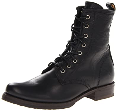97843b21a Amazon.com | FRYE Women's Veronica Combat Boot, Black Soft Vintage ...