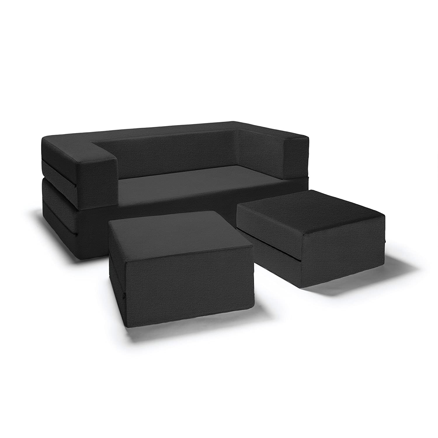 black function home ca loveseat bed fordable dp sofa leather homcom set ottoman sectional with amazon sleeper kitchen storage multi