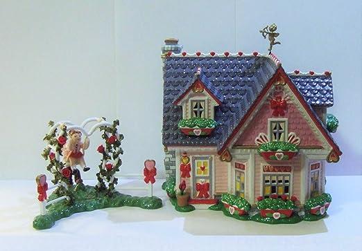 Snow Village Cupids Cardshop