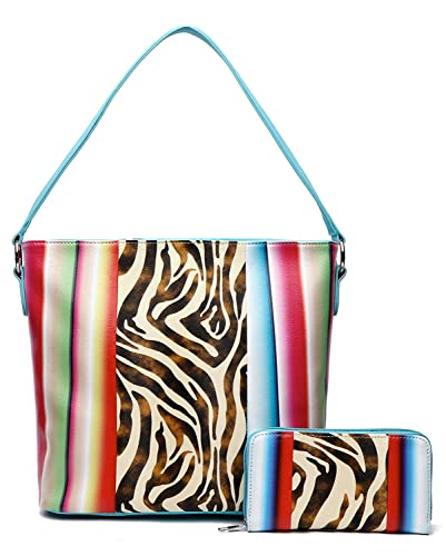 97322bd234fc Image Unavailable. Image not available for. Color  Zebra Serape Handbag Set