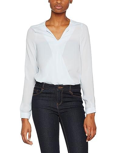 Vero Moda Vmrina LS Wrap Top, Blusa para Mujer