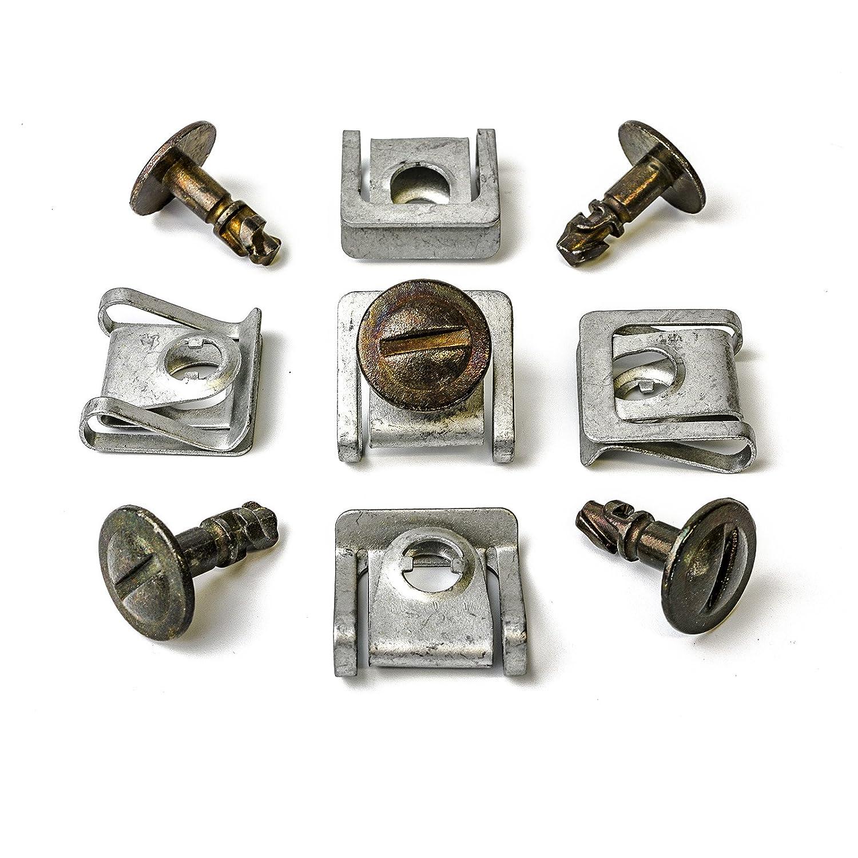 MYBA-S 8D0805960 8D0805121 Kit de fixation 15 piè ces en mé tal avec clips de fixation et vis pour cache de protection de dessous de moteur