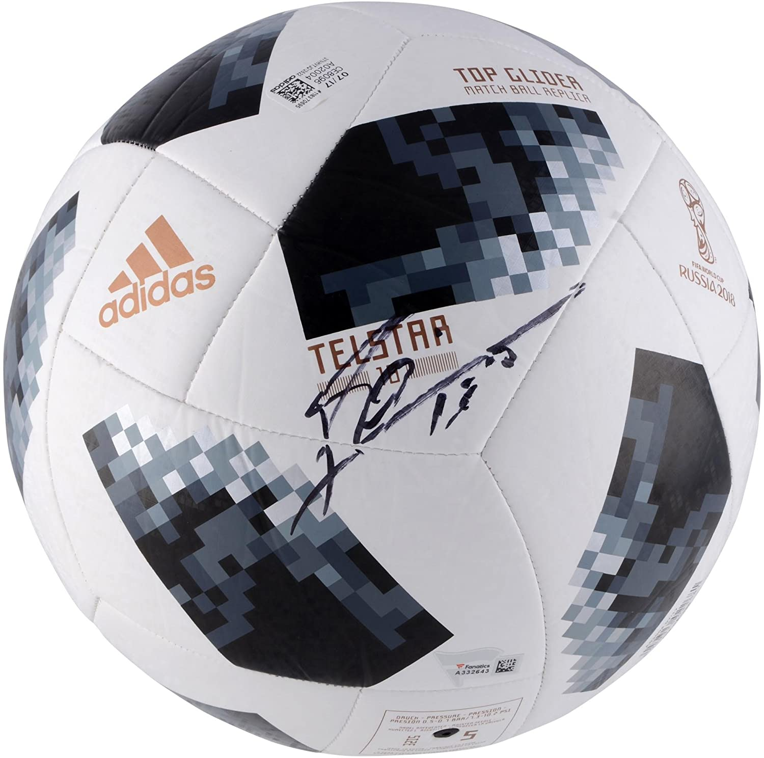 01d9d384b8d Lionel Messi Argentina Autographed 2018 FIFA World Cup Telstar 18 Soccer  Ball - Fanatics Authentic Certified at Amazon s Sports Collectibles Store