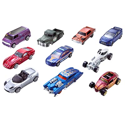 Mattel Hot Wheels 10 Pack Die-cast Cars Set Lot (Styles May Vary) No Duplicates!: Toys & Games