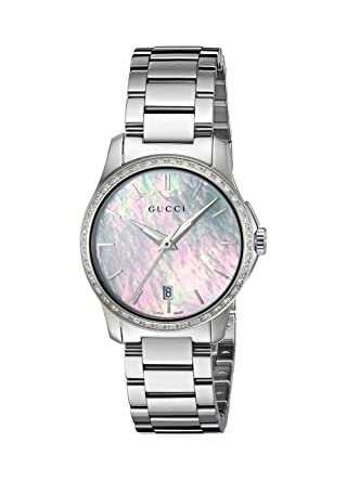 d912b421e11 Image Unavailable. Image not available for. Color  Gucci  G-Timeless  Quartz  Stainless Steel Silver-Toned Women s Watch(Model