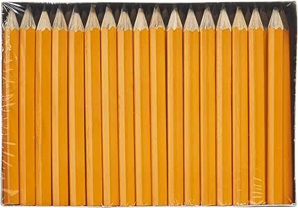 BULK 50 x 6 Pack HB Lead Mini Pencils 1//2 Half Length Orange