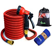 Gada 100-Feet Heavy Duty Flexible Expandable Garden Hose with 8-Way Spry Nozzle