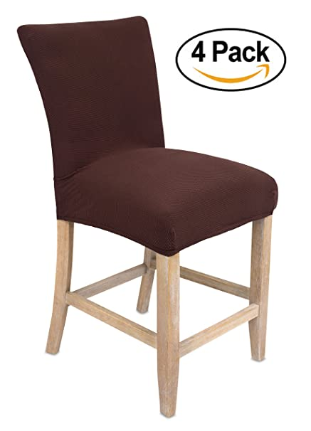 Perfect Internetu0027s Best Dining Room Chair Cover | Set Of 4 | Stretch Slipover Chair  Protectors |