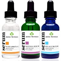 Jadole Naturals Anti Aging Set With Vitamin C Retinol And Hyaluronic Acid Serum For Anti Wrinkle And Dark Circle Remover All Natural And Moisturizing 30 ml, Pack of 1