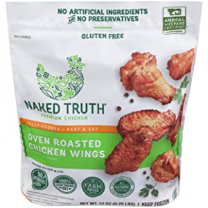 Naked Truth, Chicken Wing Oven Roasted, 12 oz (Frozen)