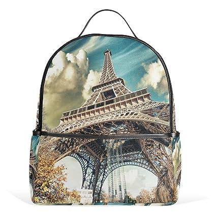 COOSUN Maravillosa Vista de París de la torre Eiffel mochilas escolares mochilas para Niños Niñas Niños