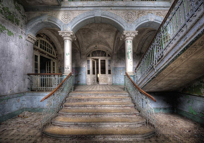 VLIES Fototapete-KELLER- 1142V -Burg Palast Weg Stadt Vintage Retro Stein Wand