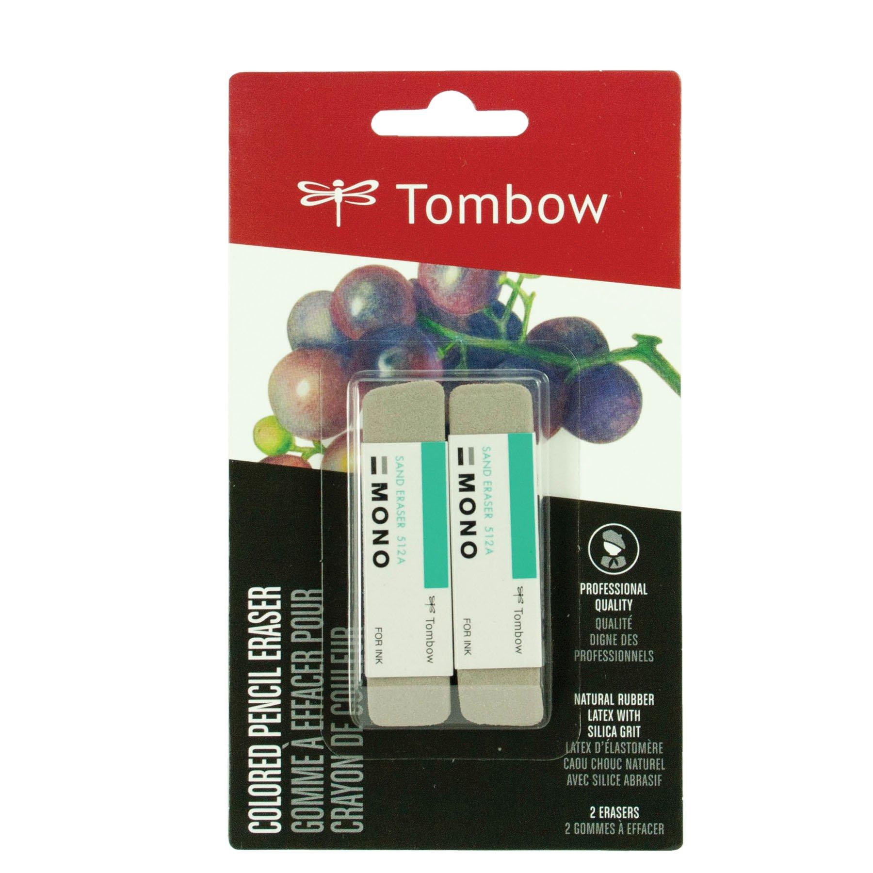 Tombow 67304 MONO Sand Eraser, 2-Pack. Silica Eraser...