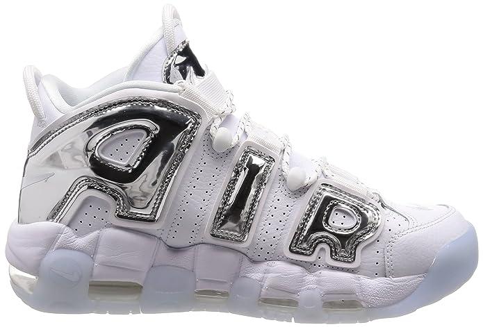 check out cab48 a21b5 Nike Damen Air More Uptempo Basketballschuhe Bianco: Amazon.de: Schuhe &  Handtaschen