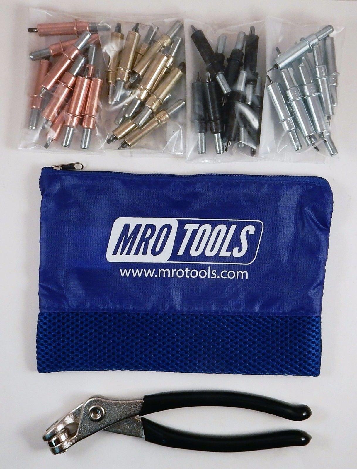 K-Series Beginner Cleco Sheet Metal Fastener Kit w/Mesh Carry Bag (K5S40)