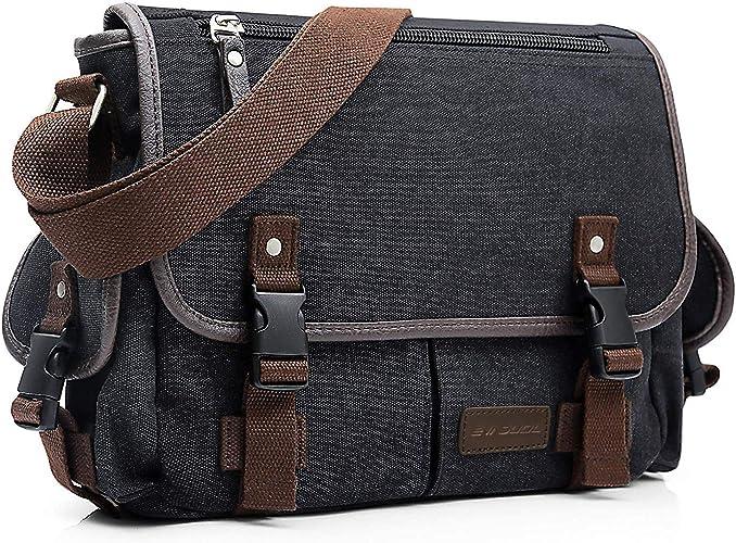 Men/'s Military Canvas Cross Body Schoolbag Satchel Shoulder Messenger Bag Small