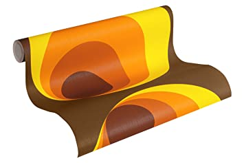 Papier Peint Vintage Papier Peint Annees 60 Papier Peint Orange