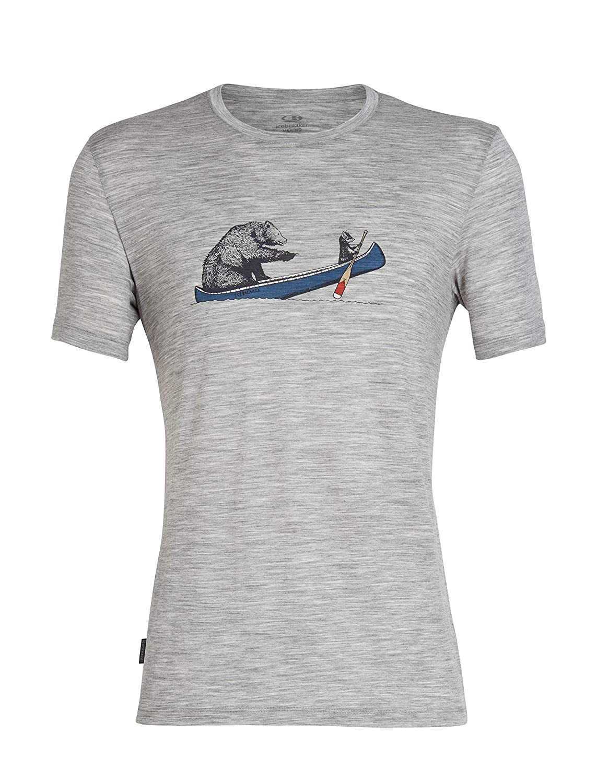 Metro hthr XL Icebreaker Tech Lite SS Crewe Canoe Companions T- T-Shirt Homme