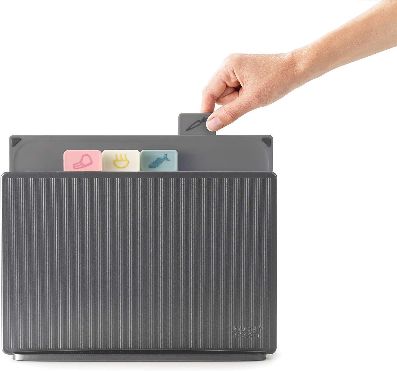 Compra Joseph Joseph Juego de Tablas para Cortar Index, tamaño Normal-Grafito, PP, TPR, Painted ABS, Multicolor (Rosa, Amarillo, Verde, Gris) en Amazon.es