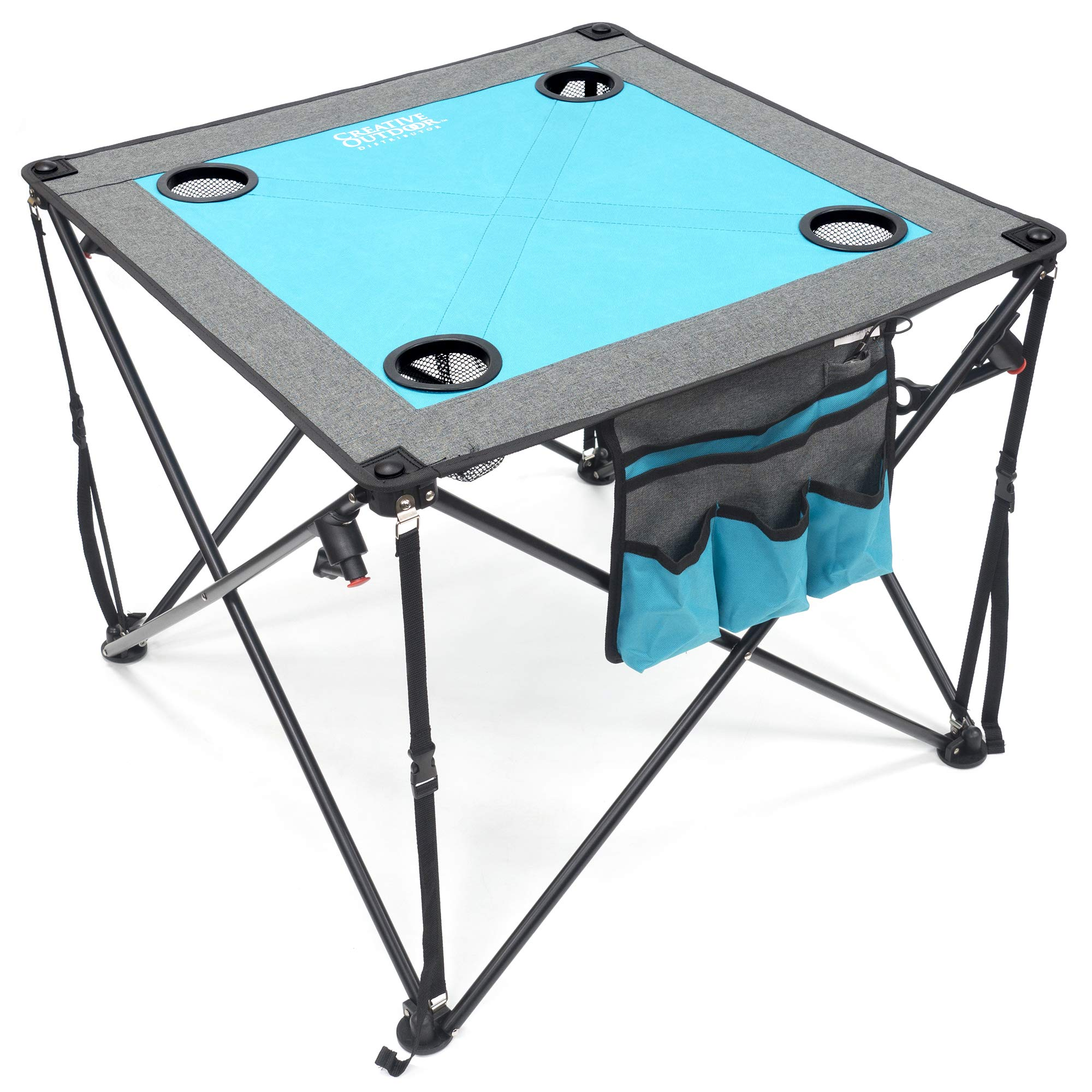 Creative Outdoor Folding Wine Table, Teal/Gray by Creative Outdoor Distributor