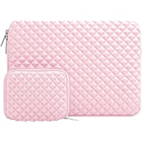 MOSISO Funda Protectora Compatible 13-13,3 Pulgadas MacBook Air/MacBook Pro/Pro Retina/Surface Laptop 2 2018 2017/Surface Book 2/1, Diamante Espuma Agua Repelente Bolsa con Pequeño Caso, Rose Quartz