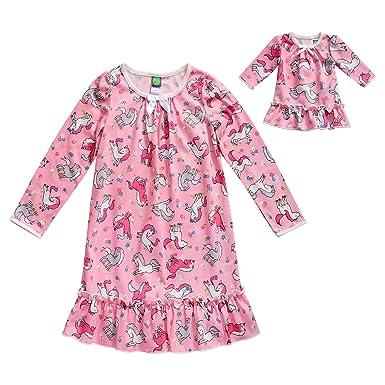 Amazon.com  Dollie   Me Girls  Apparel Pink Printed Knit Match Doll ... 9eccab3b7
