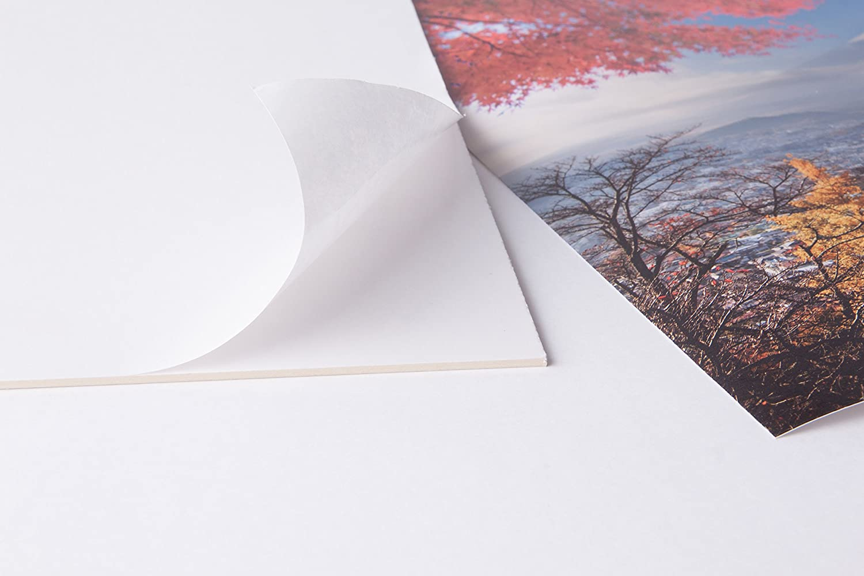 Puzzlekarton Kaschierkarton aufziehen 40x60cm Selbstklebender Karton 0,8mm stark Klebekarton Tr/ägerkarton Fixmount selbstklebende Oberfl/äche Bastelkarton R/ückwand aufkleben