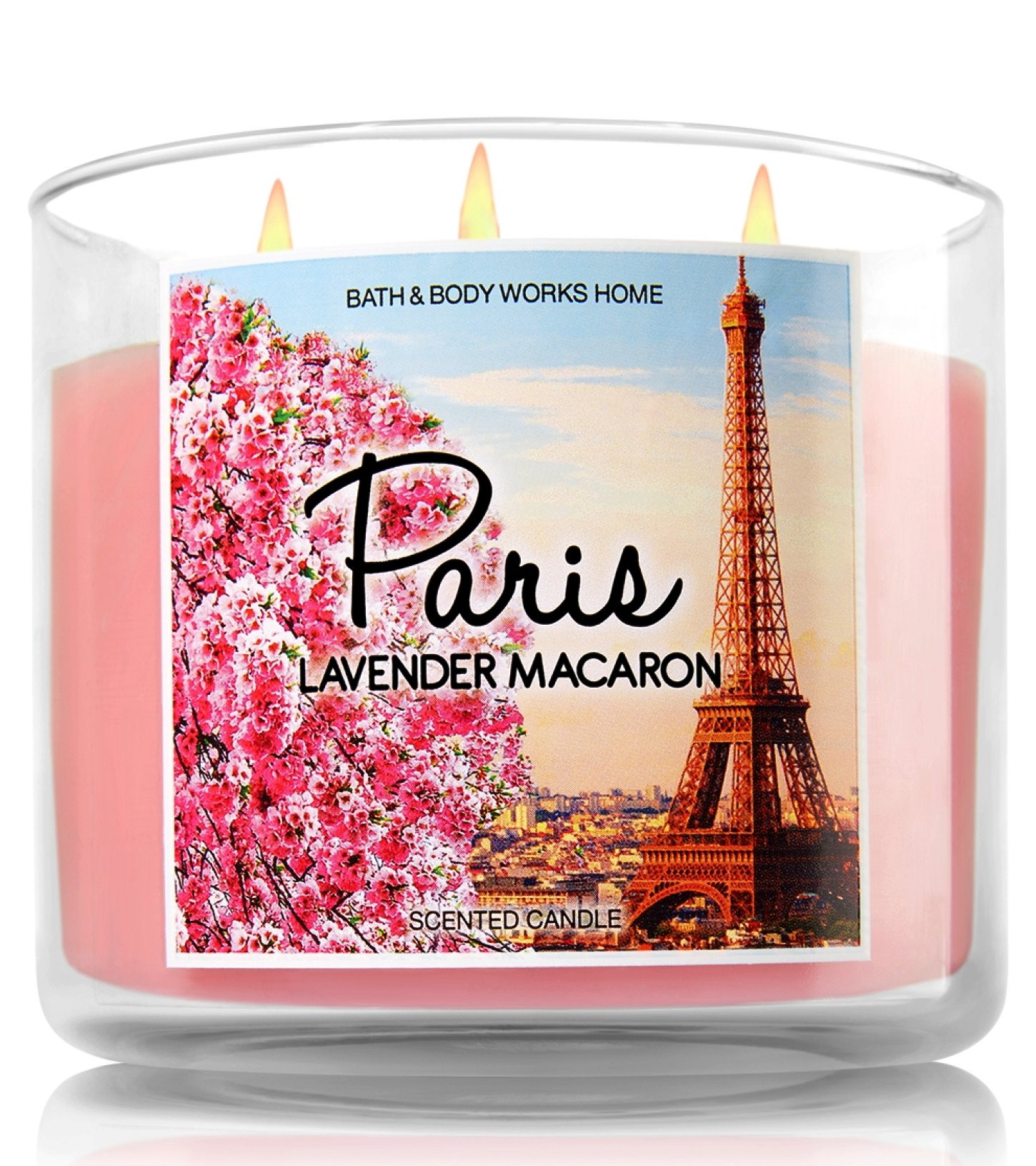 Bath & Body Works Home 3-Wick Candle Paris Lavender Macaron