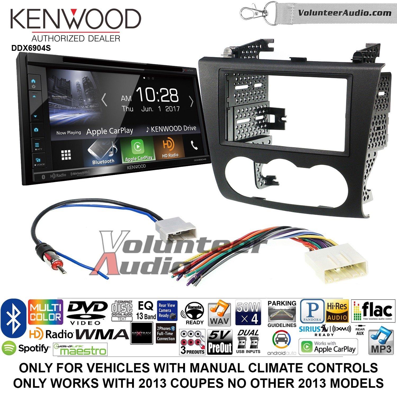 ボランティアオーディオケンウッドExcelon ddx6904sダブルDINラジオキットをインストールSatellite Bluetooth & HDラジオにフィット2007 – 2013年日産アルティマ(手動気候コントロール) B07CBXZTL1