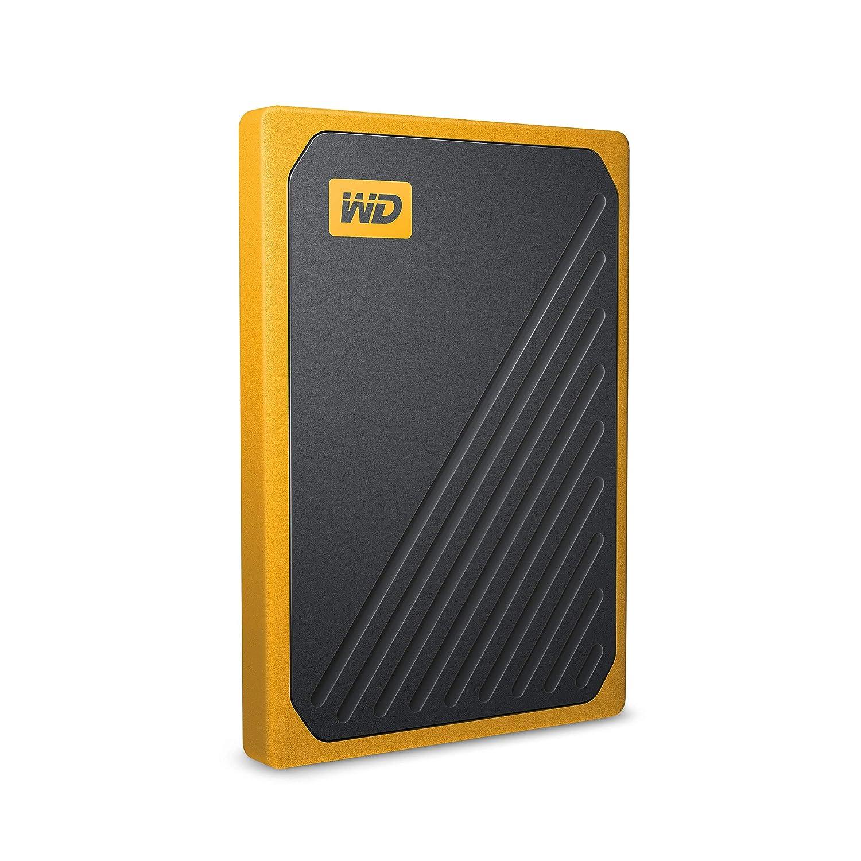 WD 1TB My Passport Go SSD Amber Portable External Storage, USB 3 0 -  WDBMCG0010BYT-WESN