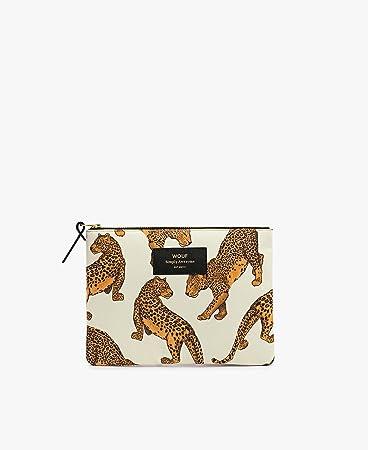Tasche wouf Große Large PouchKüche Leopard c3ARj4q5L