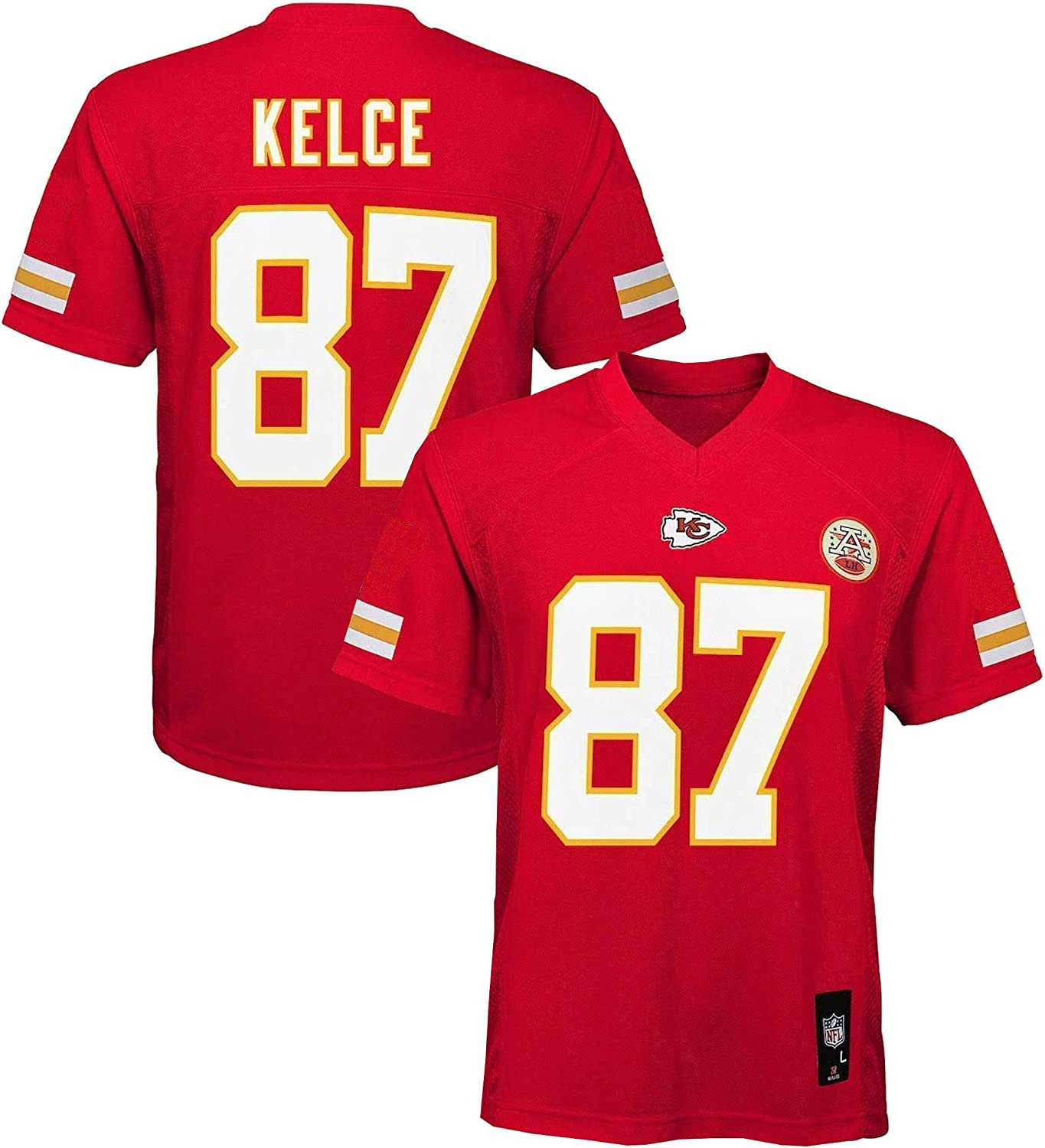 Outerstuff Travis Kelce Kansas City Chiefs NFL Youth Red Home Mid-Tier Jersey