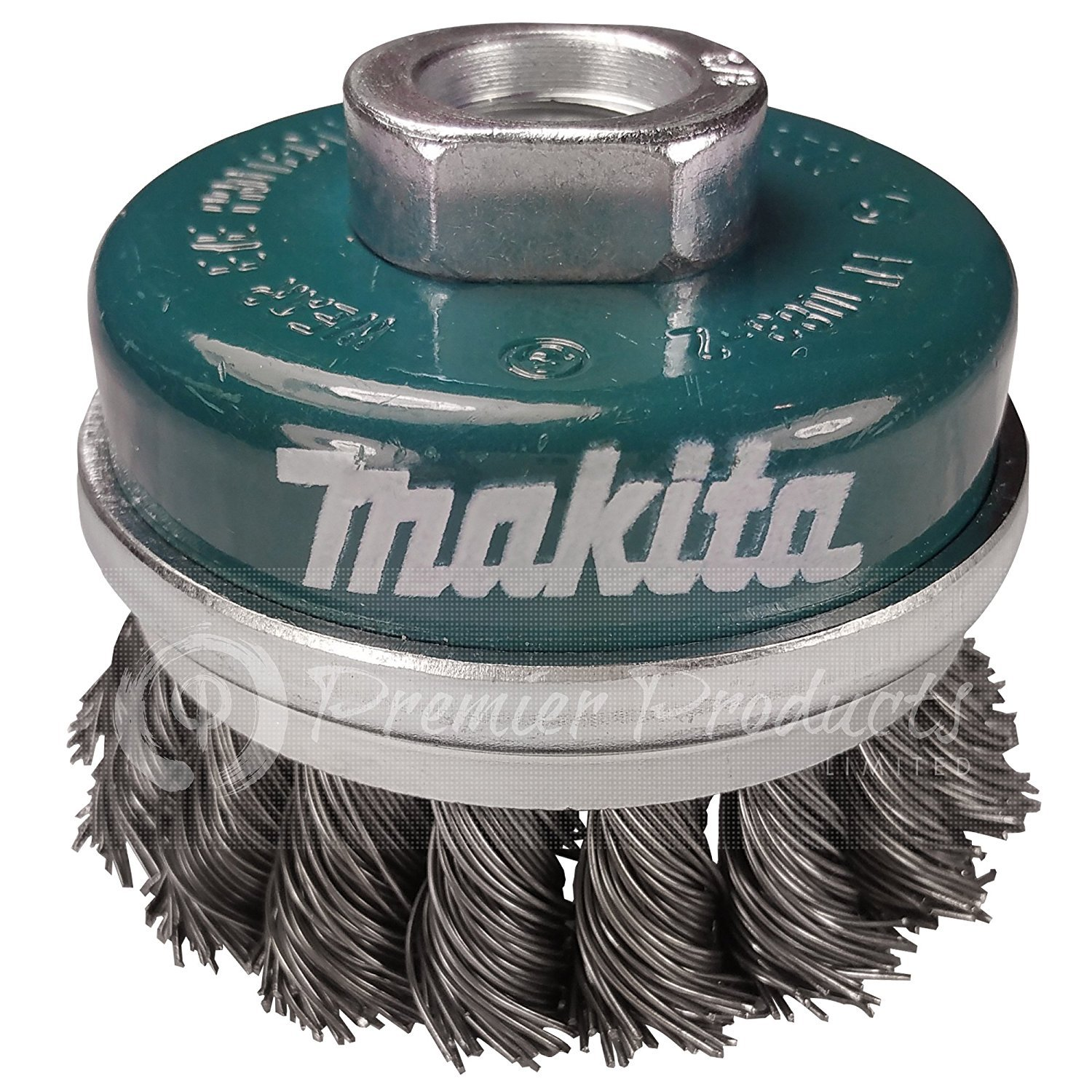 Makita 1 Piece - 2.5 Inch Banded Knotted Wire Cup Brush For Grinders - Ultra-Duty Conditioning For Metal - 2.5'' x 5/8-Inch | 11 UNC by Makita