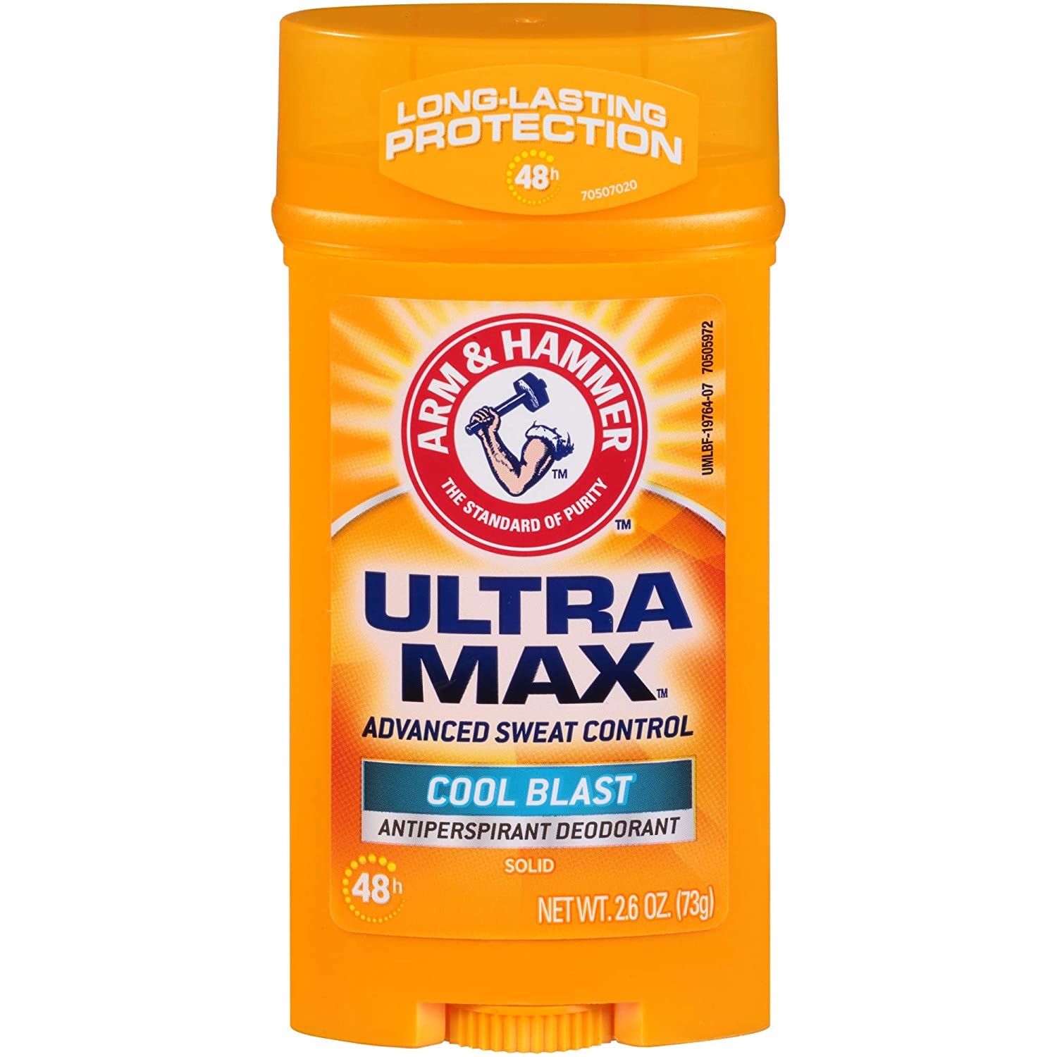 ARM & HAMMER ULTRA MAX Solid AntiPerspirant Deodorant, Cool Blast, 2.6 oz.